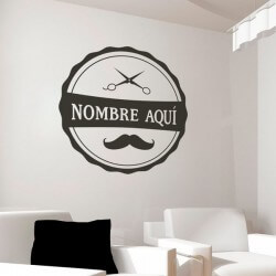 Sticker ciseaux et moustache
