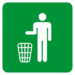 Sticker signalétique recyclage