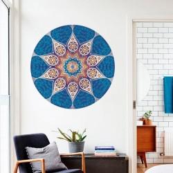 Sticker mandala bleu