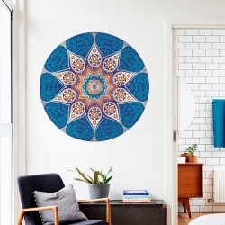 Sticker mandala bleu