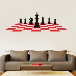 Sticker mural échecs
