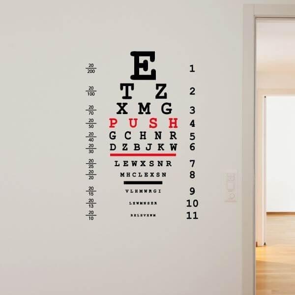 Sticker mural ophtalmologie