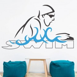 Sticker mural Swim