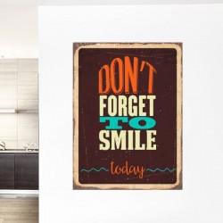Sticker mural smile