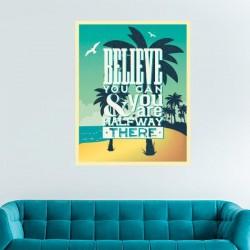 Sticker rétro believe