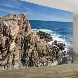 Déco murale mer et rochers