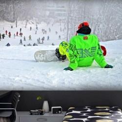 Déco murale piste de ski