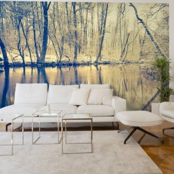 Adhésif reflet dans la rivière