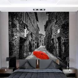 Papier peint parapluie rouge