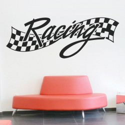 Sticker mural racing