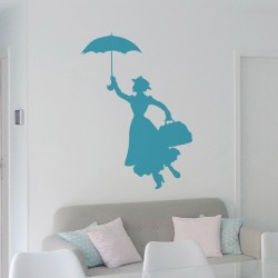 Sticker mural Mary Poppins