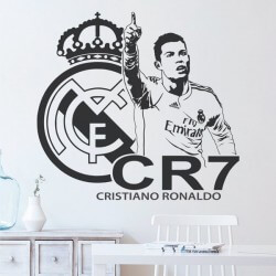 Sticker mural CR7