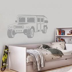 Sticker mural Hummer h1