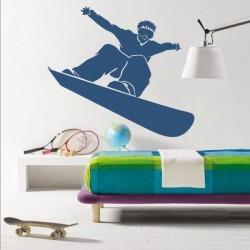 Sticker mural de snowboard