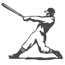 Sticker sport baseball
