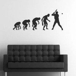 Autocollant mural évolution...