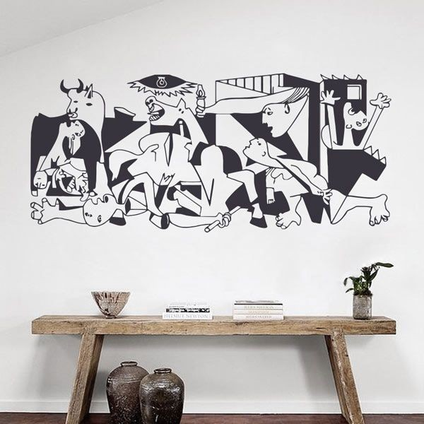 guernica picasso stickers muraux personnalis s. Black Bedroom Furniture Sets. Home Design Ideas