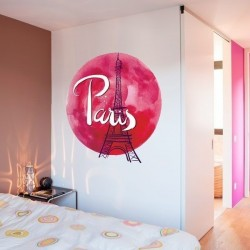 Sticker lune rouge Paris