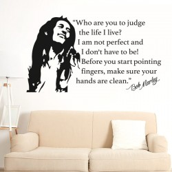 Sticker citation Bob Marley