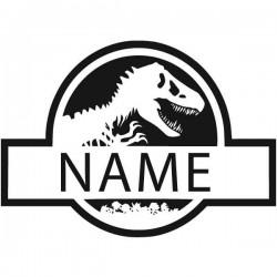 Sticker texte dinosaure