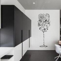 Adhésif mural vase avec des fleurs