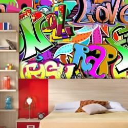 Revêtement mural graffitti