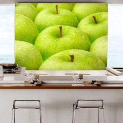 Revêtement mural avec pommes