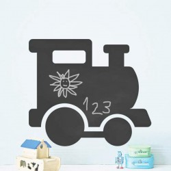 Sticker ardoise train l'enfant
