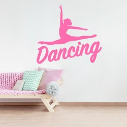 Sticker silhouette dancing