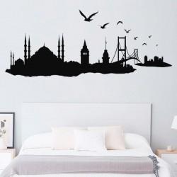 Sticker skyline ville Istanbul