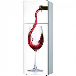 Sticker cuisine verre à vin