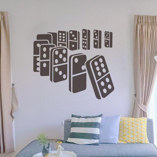 Sticker mural domino