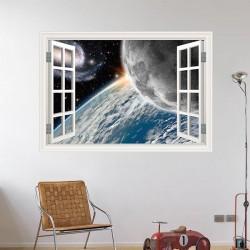 Fenêtre décorative planètes