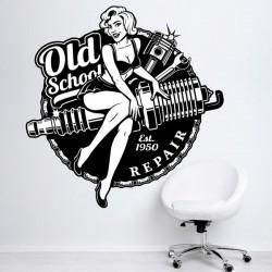 Sticker atelier de moto