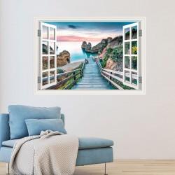 Fenêtre décorative plage