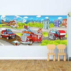 Papier peint enfants pompiers