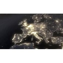 Papier peint Europe la nuit