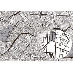 Papier peint carte Paris