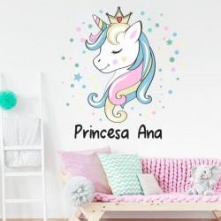 Sticker Princesse Licorne