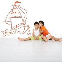 Adhésif mural bateau 1