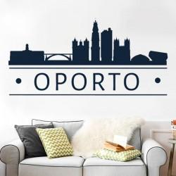 Sticker skyline Porto