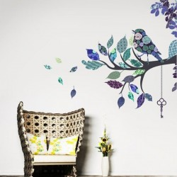 Adhésif mural branches vintage