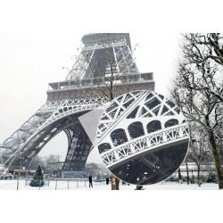 Papier pent Tour Eiffel blanc