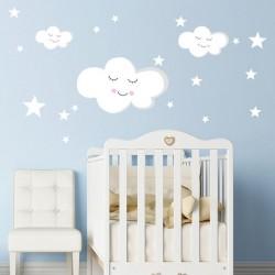 Sticker bébé nuages et...