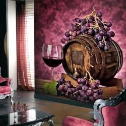Papier peint tonneau de vin