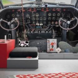 Déco murale cockpit d'un avion