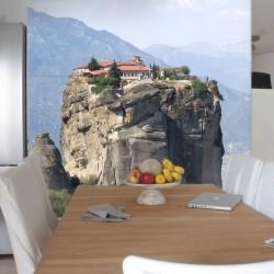 Mural maison dans le rocher