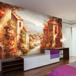 Adhésif mural fleurs dans...