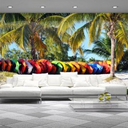Déco murale palmiers 3