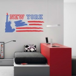 Sticker mural New York 2